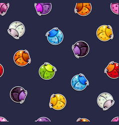 Seamless pattern with colorful round bugs vector