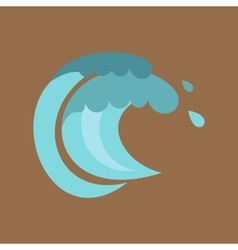 Tenth wave icon cartoon style vector image vector image
