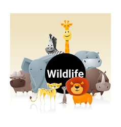 Wild animal background 3 vector image