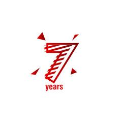 7 years anniversary celebration template design vector