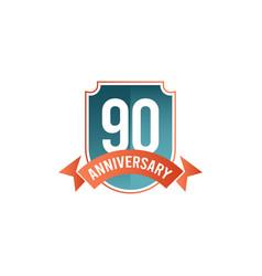 90 years anniversary celebration template design vector