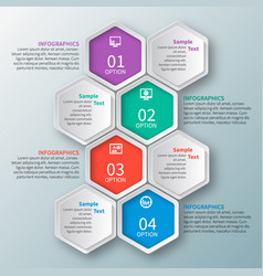 abstract 3d paper infographics business template vector image