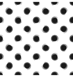 Abstract seamless pattern of grunge polka dots vector