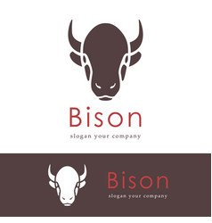 Abstract silhouette of a head bison animals logo vector