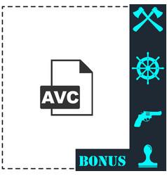 avc icon flat vector image