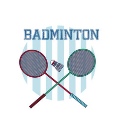 Badminton sport equipment vector