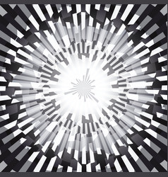 black and white burst ray abstract background vector image