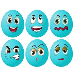 Blue egg expressions vector image