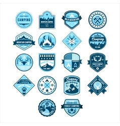 Camping and Outdoor Adventure Vintage Emblems vector