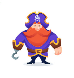 cartoon pirate game character or mascot for your vector image