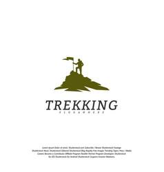 climber logo template outdoor activity symbol logo vector image