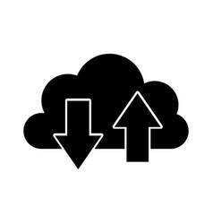 Cloud computing with arrows vector