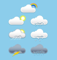 cloud weather vector image