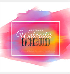 colorful hand painted watercolor background vector image