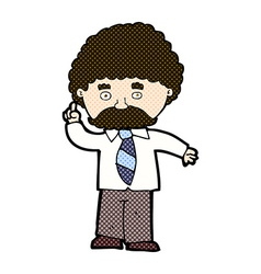 comic cartoon teacher vector image