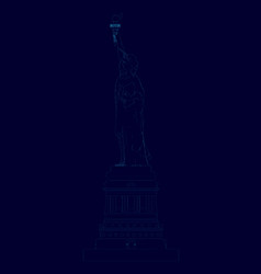 contour statue liberty side view vector image