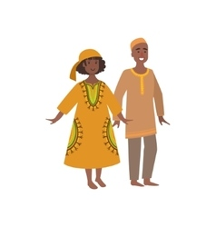 Couple in maroccan national clothes vector