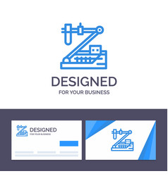 creative business card and logo template biology vector image