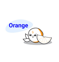 cute orange cartoon comic character with smiling vector image