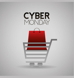 cyber monday shop vector image