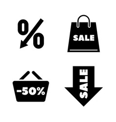 discount tag simple related icons vector image
