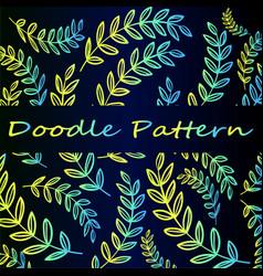 doodle neon branch pattern vector image