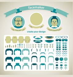 facemaker pack set vector image