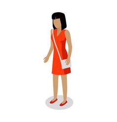 Female faceless cartoon character vector