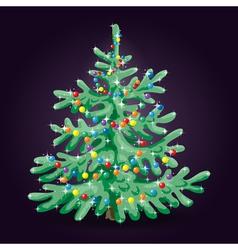 fir in night vector image