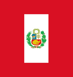 Flag of peru in official rate and colors vector