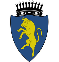 Flag of turin of piedmont italy vector
