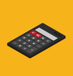 flat isometric calculator icon isolated on color vector image