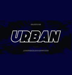 font bold italic style vector image