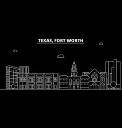 fort worth silhouette skyline usa - fort worth vector image