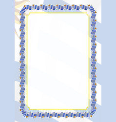 Frame and border of ribbon with uruguay flag vector