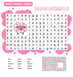 game for children about farm animals and pets vector image