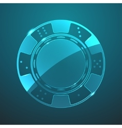 glass chip icon vector image