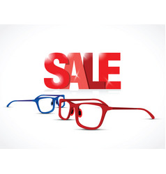 glasses sale sign vector image