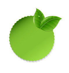 green leaves with label vector image