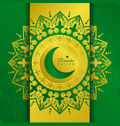 greeting card for holy month ramadan vector image