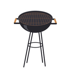 Grill for making smoked food vector