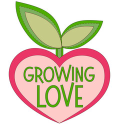 growing love colorful poster with heart shaped vector image