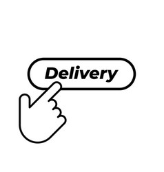 hand click on delivery button icon in trendy vector image