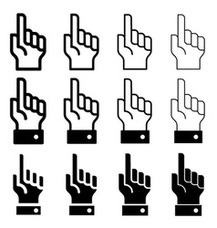 hand with warning forefinger - easy change vector image