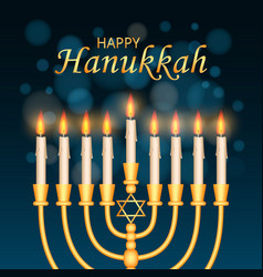 Happy hanukkah concept background realistic style vector