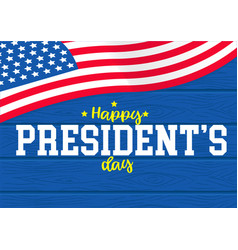 Happy presidents day on wood background vector