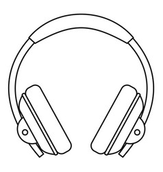 headphone icon outline style vector image