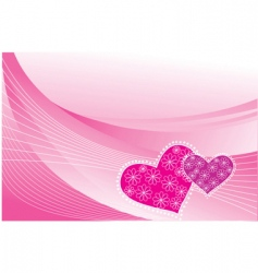 heart postcards vector image