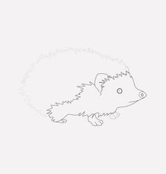 hedgehog icon line element of vector image