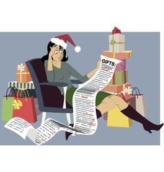 Holiday shopping vector